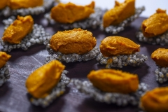 Tapioca Crisps with Carrot Dip