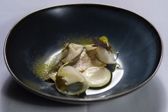 Smoked Coorong mullet, cultured buttermilk and fermented kolrabi by Kane Pollard of Topiary